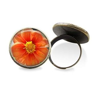Orange Flower Ring